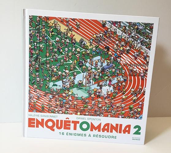 Couverture De Présentation En Portfolio Du Livre-jeu Enquêtomania 2