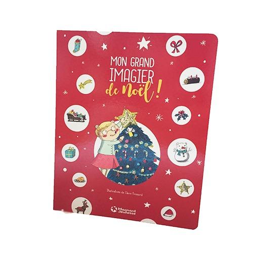Couverture De Présentation En Portfolio De L'album Mon Grand Imagier De Noël