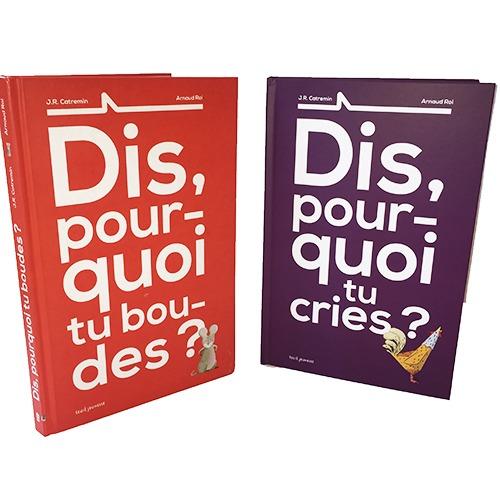 Couvertures De Présentations En Portfolio Des Albums Dis, Pourquoi Tu Boudes ? Et Dis, Pourquoi Tu Cries ?