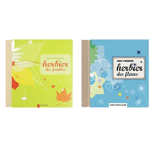 Couvertures De Présentation En Portfolio Des Livres-jeux Mon Premier Herbier