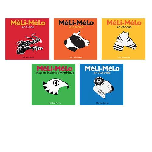 Couvertures De Présentation En Portfolio De La Collection Méli-Mélo
