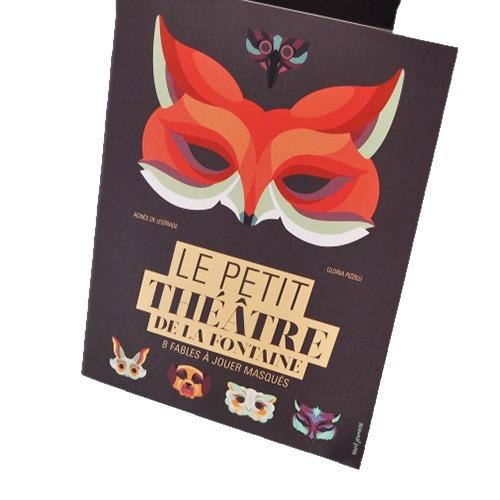 Couverture De Présentation En Portfolio Du Livre-jeu Le Petit Théâtre De La Fontaine