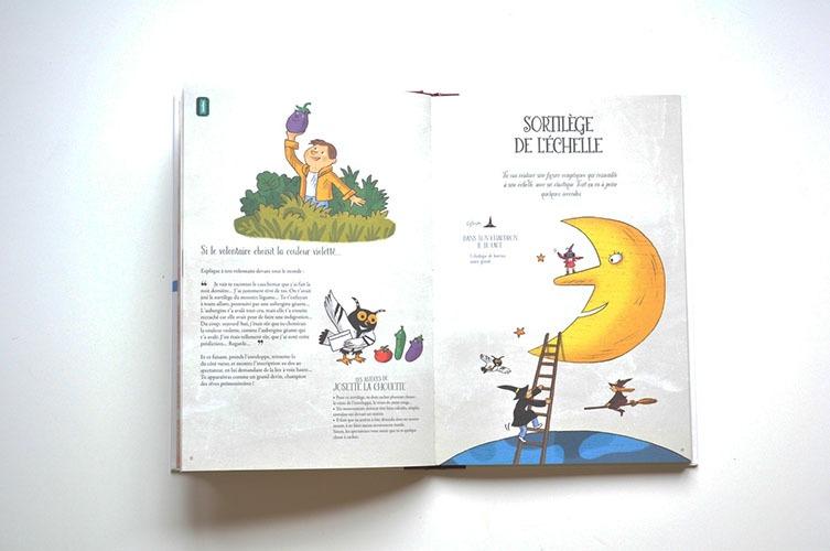 Contenu Du Livre-jeu Grimoire Magique Pour Portfolio