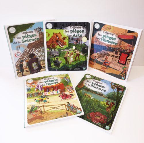 Couvertures De Présentation En Portfolio Des Livres-jeux Déjoue Les Pièges